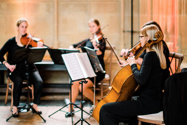 String Quartet playing in Divinity School
