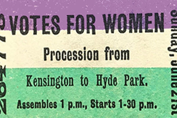 Votes for Women flyer from 1908