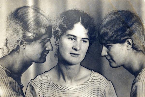 A triple photographic portrait by Helen Muspratt