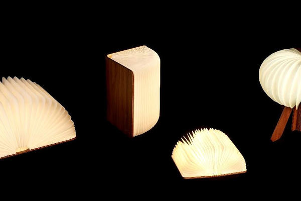 Lamps in the shape of books