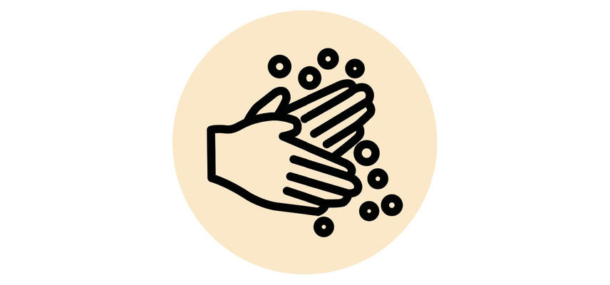 Two hands and soap icon